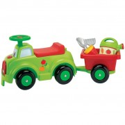Ecoiffier Ride-On Car with Trailer and Garden Tools 1430144