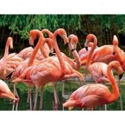 Merkloos 3D koelkast magneetje roze flamingo