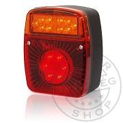 LED hátsó lámpa kocka 12/24V 3funkciós+rendszám vill.