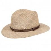 HUTTER cappello traveller per uomo in paglia naturale con cintura di pelle