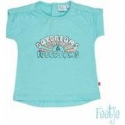 Feetje! Meisjes Shirt Korte Mouw - Maat 80 - Mint - Katoen/polyester/elasthan