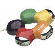 4-portni USB 2.0 hub Manhattan šareni