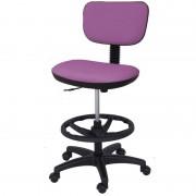 Taburete Kinefis Tipo Cadeira Economy com Respaldo Estofado em Skay Excellent, Elevação a Gás, Altura Alto com Reposapiés (Cores Disponíveis)