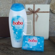 Baba ajándékcsomag Lanolin (tusfürdő, szappan)