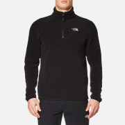 The North Face Men's 100 Glacier 1/4 Zip Fleece - TNF Black - XXL - Black