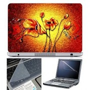 FineArts Laptop Skin Abstract Series 1035 With Screen Guard and Key Protector - Size 15.6 inch