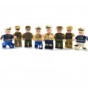 8 piezas Tema militar Bloque de construcción