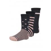 Abelu meleg gyerek zokni, 3 pár 1 csomagban feketés-rózsaszín 38-40