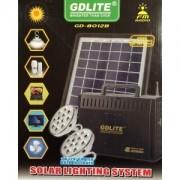 Kit solar de iluminat si incarcare cu acumulator 12V 7Ah GD8012B