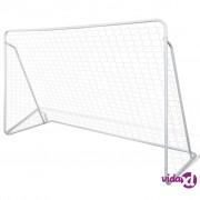 vidaXL Gol s mrežom i potpornjima, 240 x 90 x 150 cm