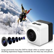 Cámara Deportes 360° WIFI Panorama Camera-Blanco