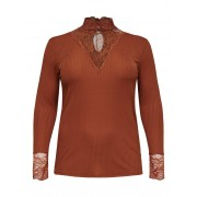 ONLY Curvy High-neck Top Dames Rood / Female / Rood / L-50/52
