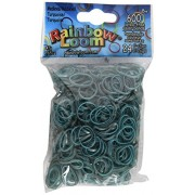 Rainbow Loom Medieval Turquoise Rubber Bands with 24 C-Clips (600 Count)
