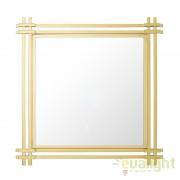 Oglinda decorativa eleganta, rama din otel auriu Convento dim.90X90cm 110364 HZ