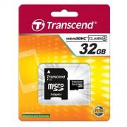 Micro SD TRANSCEND 32GB Class 4 c/adapt SD -TS32GUSDHC4