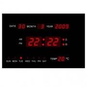 IP-LD-2313 Дигитален LED диоден стенен часовник с термометър