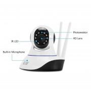 Cámara IP Inalámbrica HD 720 P Wifi IR-Cut Visión Nocturna Blanca