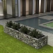 vidaXL Planteringsgabion stål 360x90x50 cm