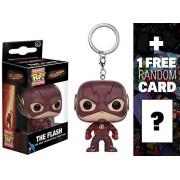 Dc Universe: Flash The Flash: Pocket Pop X Mini-Figure Keychain + 1 Free Official Trading Card Bundle (103183)