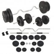 vidaXL Set de haltere și gantere, 60 kg