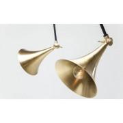 Kare Design Verstelbare Hanglamp Spider Trumpet 5-LichtsØ16 X H17 Cm - Brass