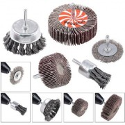 DIY Crafts 5Pcs Crimped Wire Wheel Brush Wire Cup Brush Set with 1/4-Inch Shank 5 Sizes Drill Accessory Kit Perfect for Removal of Rust/Corrosion/Paint - Reduced Wire Breakage and Longer Life