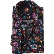 Suitable Flower Power Overhemd Donkerblauw 154-5