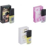 Skyedventures Set of 3 Devdas-Rose-Silent love Perfume