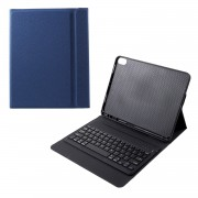 Wireless Keyboard with Textured PU Leather Case for iPad Pro 11-inch (2018) - Blue