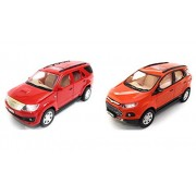 Combo of Fortuner Red and SportsEco Orange  Show Piece Toys   Miniature Car   Pull Back and Go   Set of 2 Toys - Value Pack