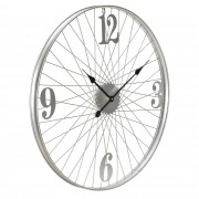 Стенен часовник [en.casa]® Велосипед- с аналогови стрелки- 68 x 4 x 68 см.- цветен