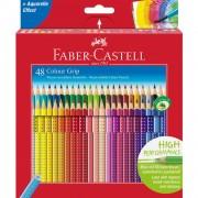 Creioane colorate 48 culori/set FABER-CASTELL Grip 2001, FC112449