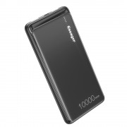 ESSAGER 10000mAh Power Bank Portable Charger for Huawei Apple Samsung Xiaomi Etc. - Black