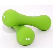 Set de 2 gantere din neopren - greutati - pentru fitness sau aerobic - 2 x 2 kg