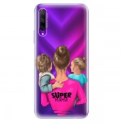 Odolné silikonové pouzdro iSaprio - Super Mama - Boy and Girl - Honor 9X Pro