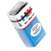 OkaeYa 2 Pcs. HI-WATT 9V 6F22M Zinc Carbon Long Life General Purpose Batteries . Green Battery 0 Mercury Cadmium