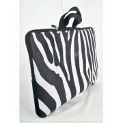 Laptoptas met zwarte-witte zebra print