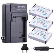 3 Packs van EN-EL12 Batterijen + Oplader Kits voor Nikon Coolpix A900, AW100, AW110, AW120, AW130, S31, S800C, S6100, S6200