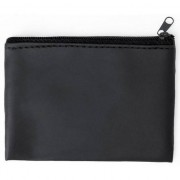 Merkloos Zwarte portemonnee met sleutelhanger 10 x 7 cm