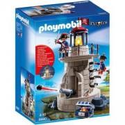 Комплект Плеймобил 6680 - Войнишка кула със светлина - Playmobil, 291223