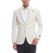 【30%OFF】アルパカ混 ノッチドラペル テーラードジャケット ホワイト 50 ファッション > メンズウエア~~ジャケット