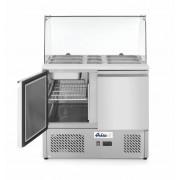 Hendi Saladette 2 Portes avec Vitrine Réfrigérée en Verre 2x GN 1/1 en 3x GN 1/6 900x700x(H)1300mm