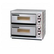 Pizzaoven Dubbel Elektrisch | 2 x 4 Pizza's Ø30cm | 400V | 10kW | 910x810x(H)770mm