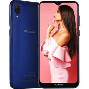 Ban Teléfono móvil con tarjeta SIM dual DOOGEE X90-6.1 pulgadas teléfono inteligente de pantalla completa, ROM de 16GB de cuatro núcleos Android 8.1, selfie de 5MP, cámara trasera dual de 5MP + 8MP, GPS (Azul)