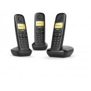 Siemens Gigaset A170 Trio Analog/DECT telephone Identificatore di chiamata Nero