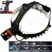 ZHISHUNJIA KL244 900lm Zoom Mecanico de 3 Modos LED Faro / Luz de Bicicleta / Linterna - Negro