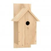 Merkloos Houten vogelhuis bouwpakket