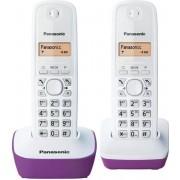 Panasonic KX-TG1612FRF Duo-telefoon zonder bestand zonder antwoordapparaat Wit Paars