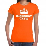 Bellatio Decorations Oranje Kingsday crew t-shirt voor dames