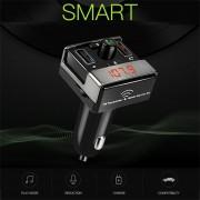 EH A7 Inalámbrico Bluetooth Dual USB Cargador Coche Reproductor De MP3 Pequeño Transmisor FM - Negro